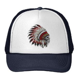 Native American Skull Trucker Hat