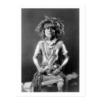 Native American Snake Priest, 1900 Postcard