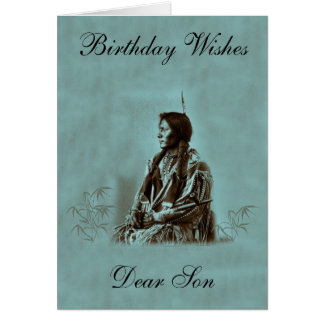 NATIVE AMERICAN SON GREETING CARD