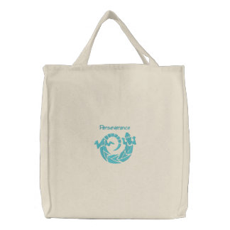 Native American Spinning Lizard Design 1 Embroidered Tote Bag