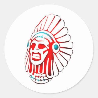 Native American spirit 01 Classic Round Sticker