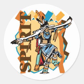 Native American Spirit Dance Round Sticker