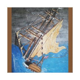 Native American spirit wind Canvas Print