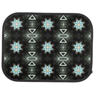 native american star-burst geometric car mat