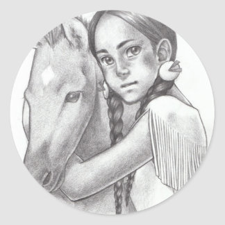 Native American Round Sticker