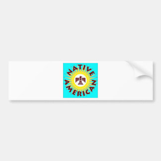 Native American Sun Bumper Sticker