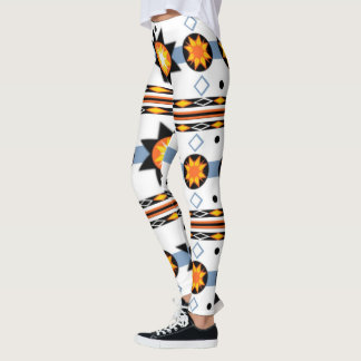 Native American Sun Pattern Leggings