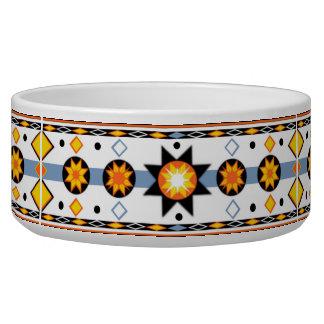 Native American Sun Pattern Pet Bowl