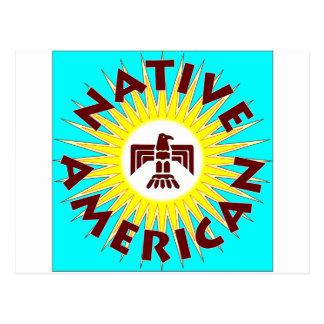 Native American Sun Post Card
