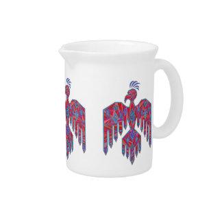 Native American Symbol Thunderbird Drink Pitcher