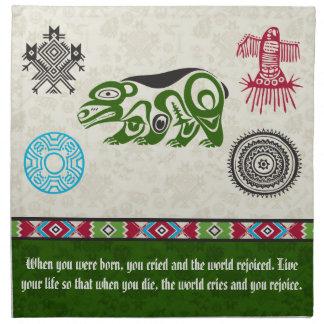 Native American Symbols and Wisdom - Bear Cloth Napkin