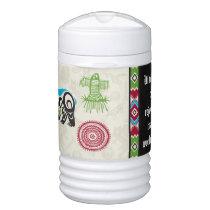 Native American Symbols and Wisdom - Bear Igloo Beverage Cooler