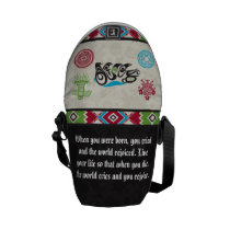 Native American Symbols and Wisdom - Bear Messenger Bag