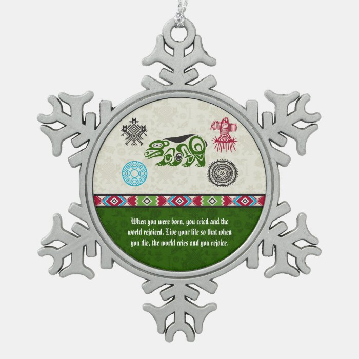 Native American Symbols and Wisdom - Bear Snowflake Pewter ...