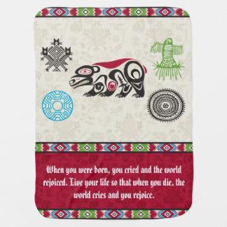 Native American Symbols and Wisdom - Bear Swaddle Blanket