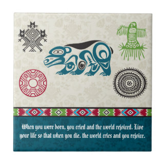 Native American Symbols and Wisdom - Bear Tile