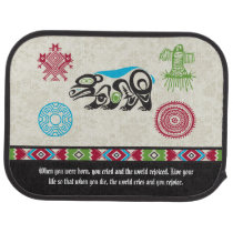 Native American Symbols and Wisdom - Bear Floor Mat