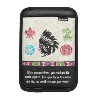 Native American Symbols and Wisdom - Chief iPad Mini Sleeve