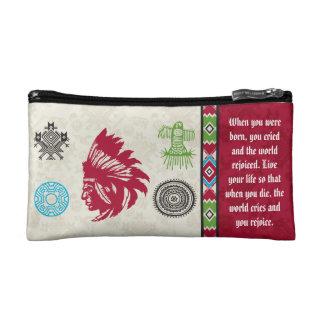 Native American Symbols and Wisdom - Chief Makeup Bag