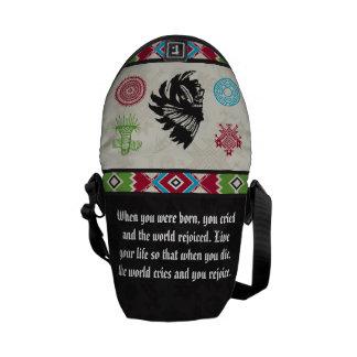 Native American Symbols and Wisdom - Chief Messenger Bags