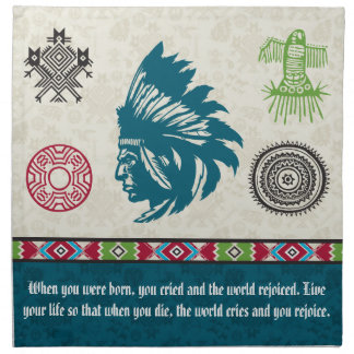 Native American Symbols and Wisdom - Chief Printed Napkin