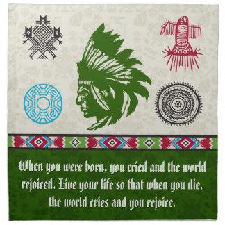 Native American Symbols and Wisdom - Chief Napkin