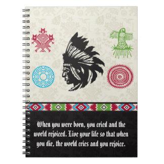 Native American Symbols and Wisdom - Chief Spiral Notebooks