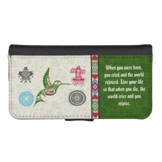 Native American Symbols and Wisdom - Hummingbird iPhone 5 Wallet