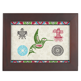 Native American Symbols and Wisdom - Hummingbird Memory Box