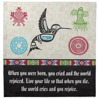 Native American Symbols and Wisdom - Hummingbird Napkin