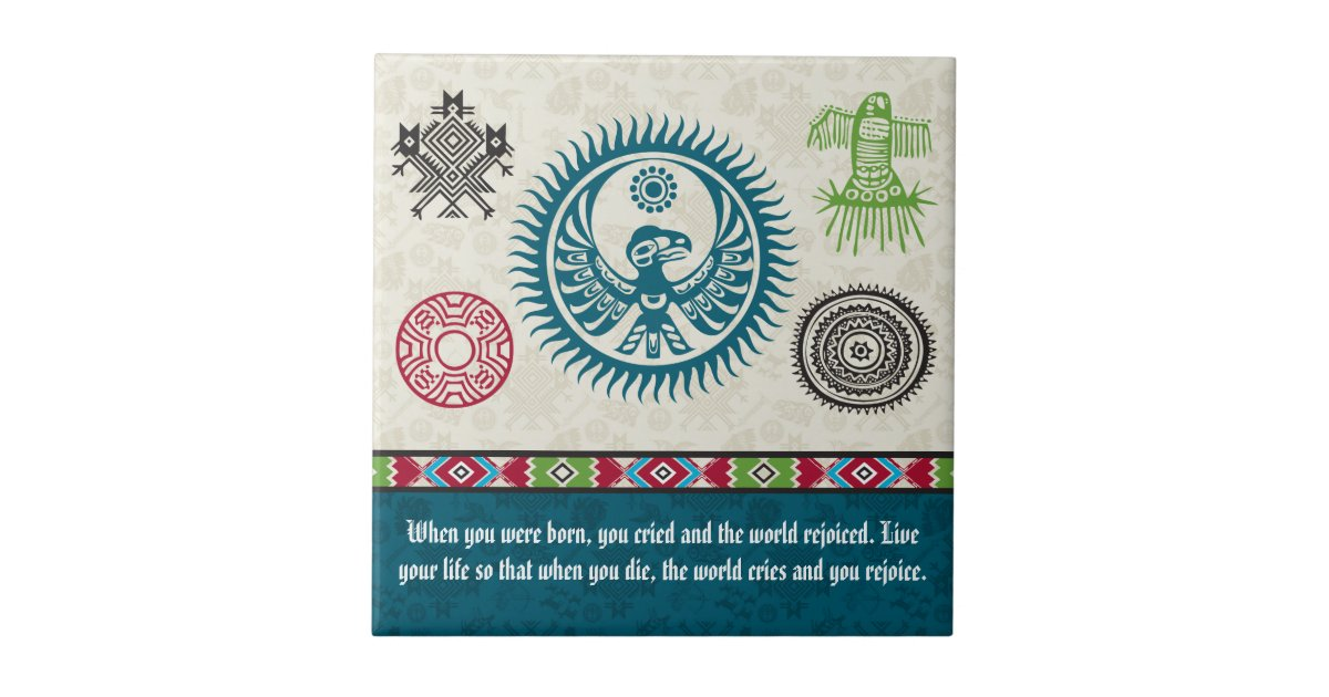 Native American Symbols and Wisdom - Phoenix Ceramic Tile ...