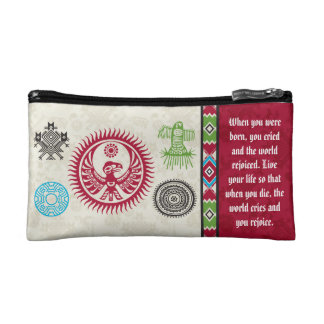 Native American Symbols and Wisdom - Phoenix Cosmetic Bag