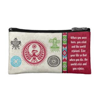 Native American Symbols and Wisdom - Phoenix Cosmetic Bag