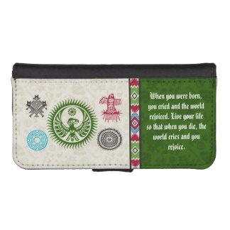 Native American Symbols and Wisdom - Phoenix iPhone 5 Wallets