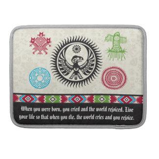 Native American Symbols and Wisdom - Phoenix Sleeve For MacBooks