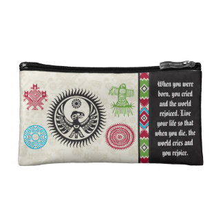 Native American Symbols and Wisdom - Phoenix Makeup Bag