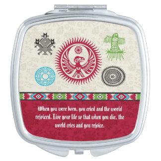 Native American Symbols and Wisdom - Phoenix Vanity Mirror