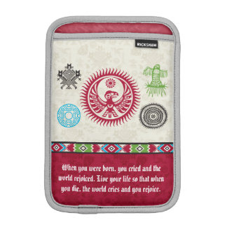 Native American Symbols and Wisdom - Phoenix Sleeve For iPad Mini