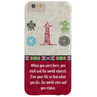 Native American Symbols and Wisdom - Totem Pole Barely There iPhone 6 Plus Case