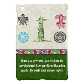 Native American Symbols and Wisdom - Totem Pole iPad Mini Case