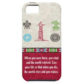 Native American Symbols and Wisdom - Totem Pole iPhone 5 Cover