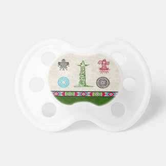 Native American Symbols and Wisdom - Totem Pole Baby Pacifier