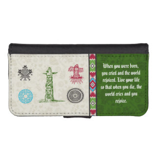Native American Symbols and Wisdom - Totem Pole Phone Wallet Cases