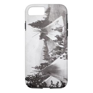 Native American Teepee Camp, Montana, c.1900 (b/w iPhone 8/7 Case