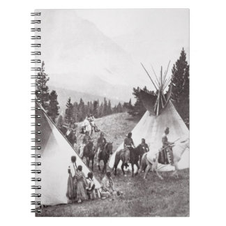 Native American Teepee Camp, Montana, c.1900 (b/w Notebook