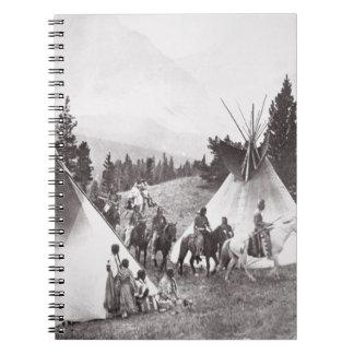 Native American Teepee Camp, Montana, c.1900 (b/w Notebook