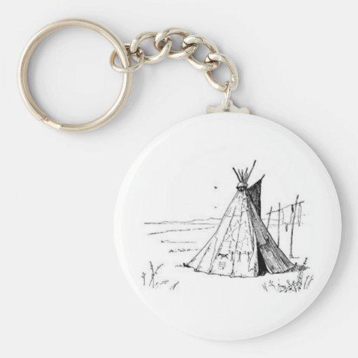 Native American Teepee Key Chain