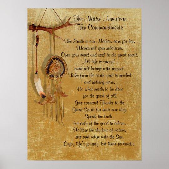 Native American Ten Commandments Poster Zazzle Com