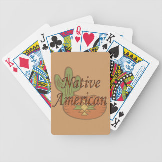 Native American  terra cotta Bicycle Playing Cards