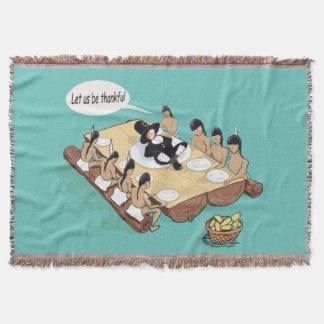 Native American Thanksgiving Throw Blanket
